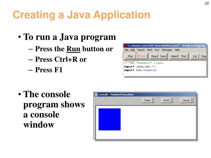 Creating a Java Application