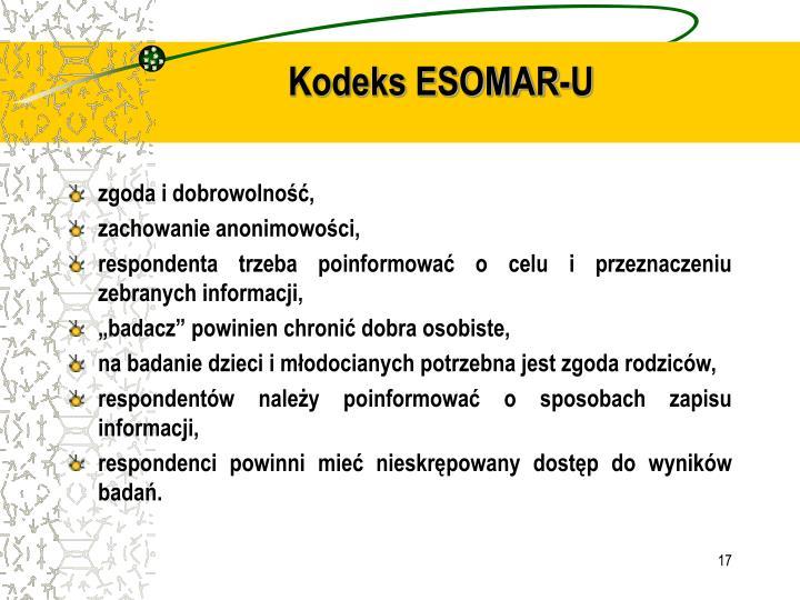 Kodeks ESOMAR-U