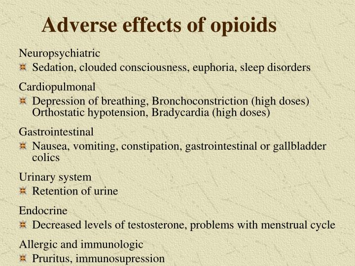 Adverse effects of opioids