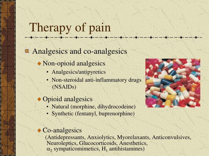 Therapy of pain