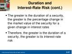 duration and interest rate risk cont1