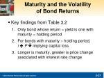 maturity and the volatility of bond returns
