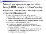 enhancing employment opportunities through r s major employer s policy