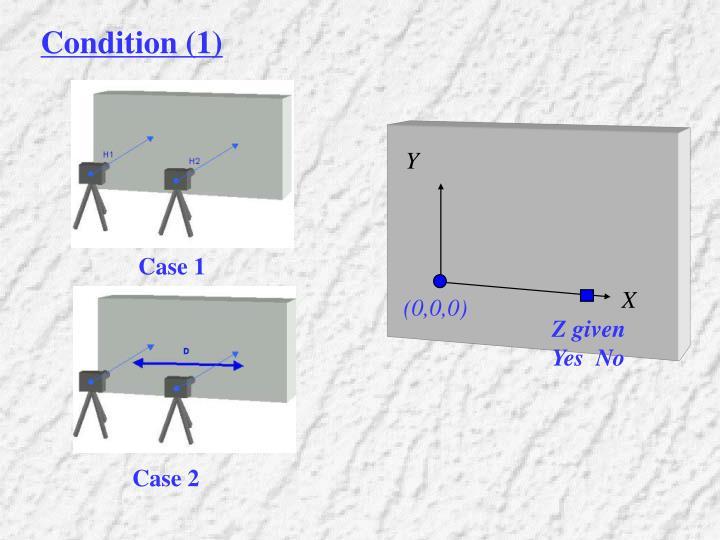 Condition (1)