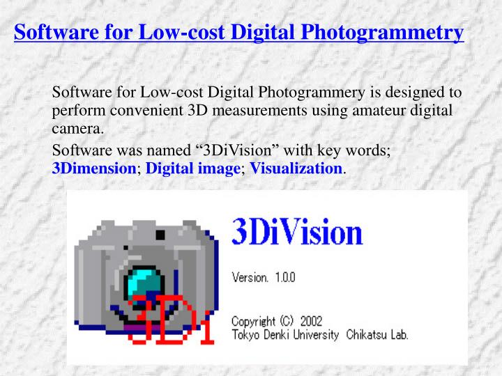 Software for Low-cost