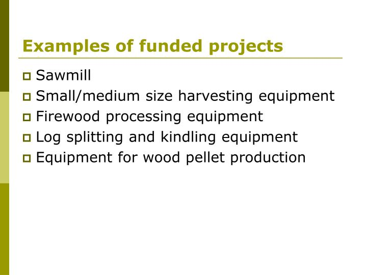 Examples of funded projects