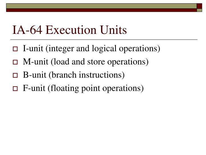 IA-64 Execution Units
