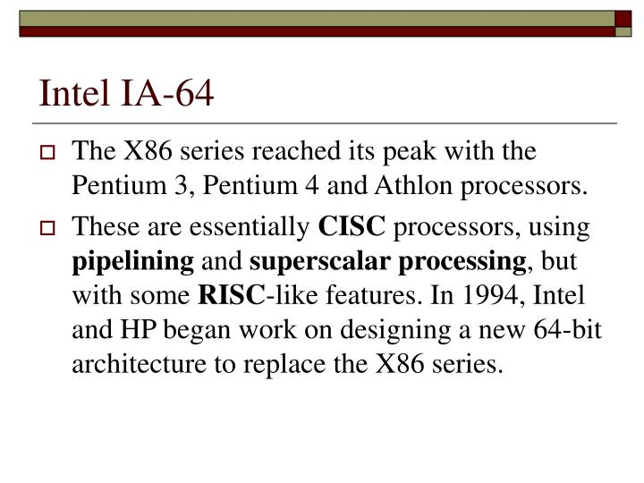Intel IA-64