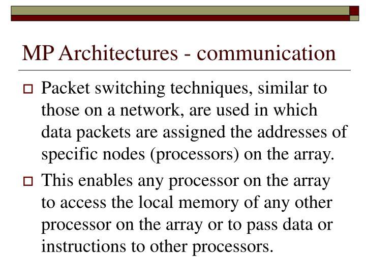 MP Architectures - communication