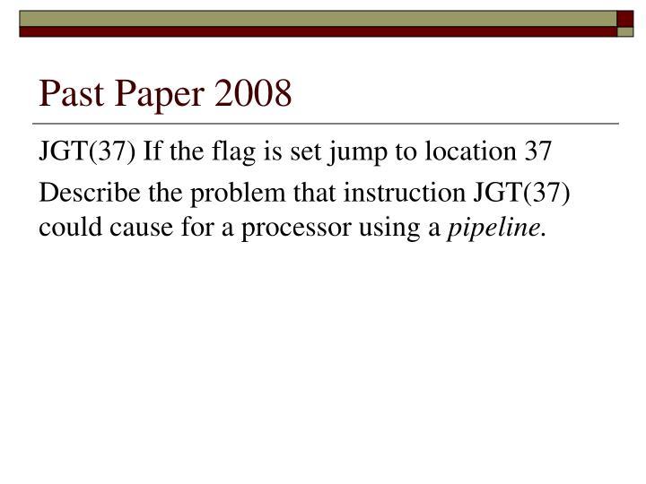 Past Paper 2008