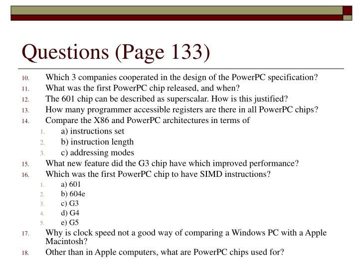 Questions (Page 133)