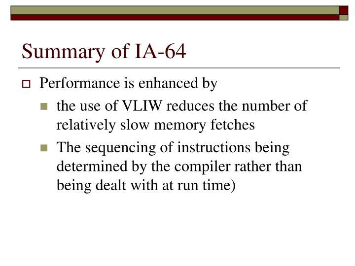 Summary of IA-64
