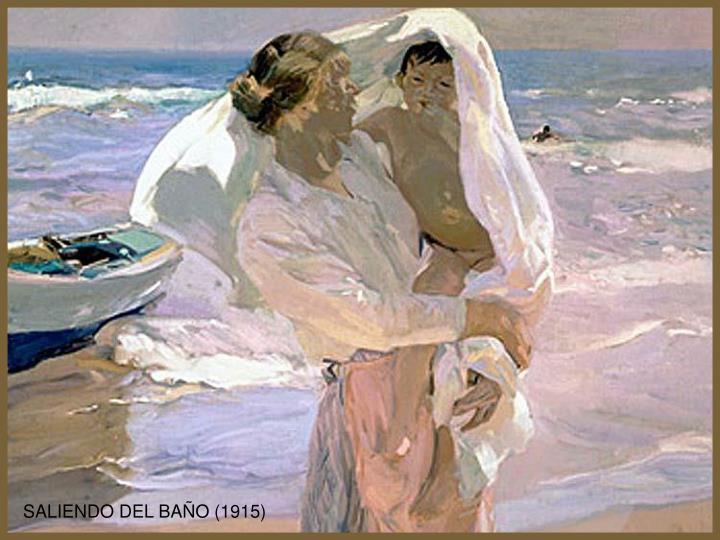 SALIENDO DEL BAÑO (1915)