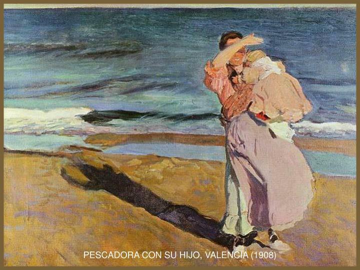 PESCADORA CON SU HIJO, VALENCIA (1908)