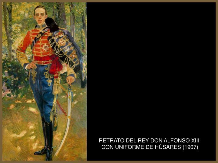 RETRATO DEL REY DON ALFONSO XIII