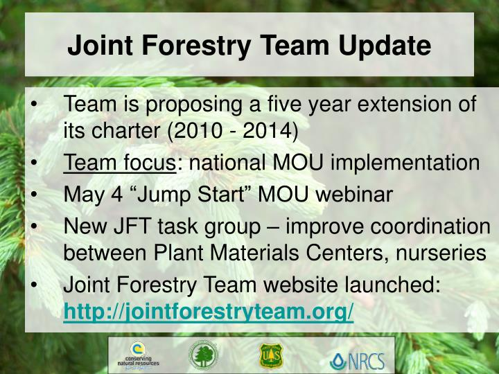 Joint Forestry Team Update