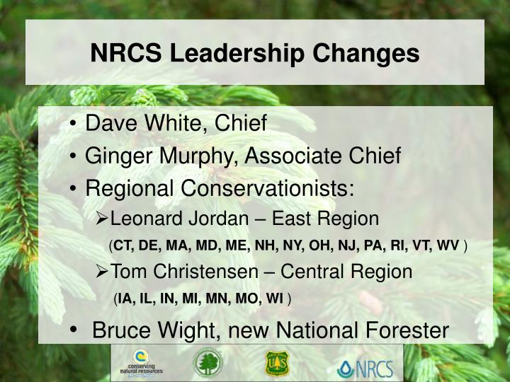 Nrcs leadership changes