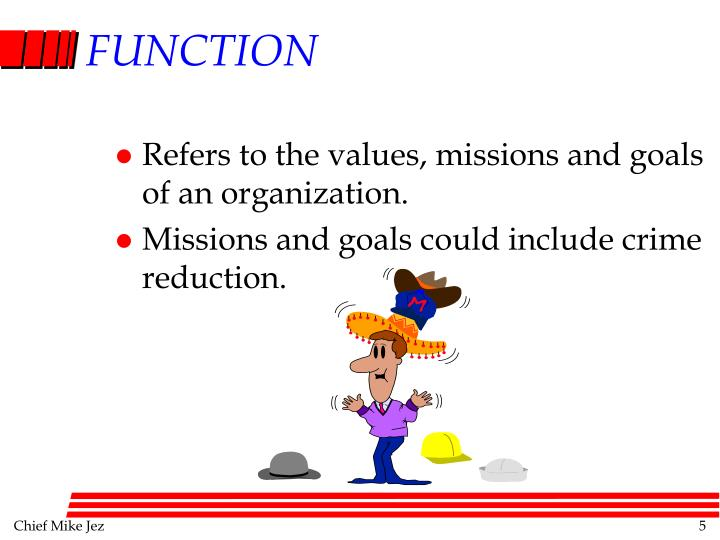 Refers to the values, missions and goals of an organization.
