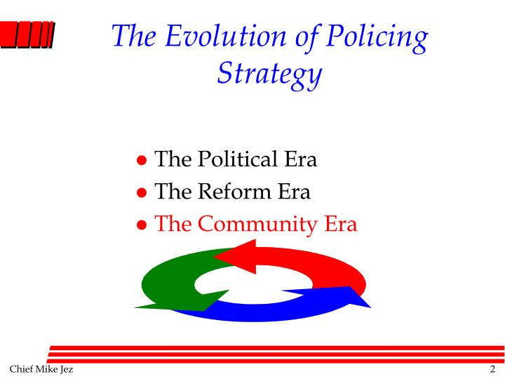 The evolution of policing strategy