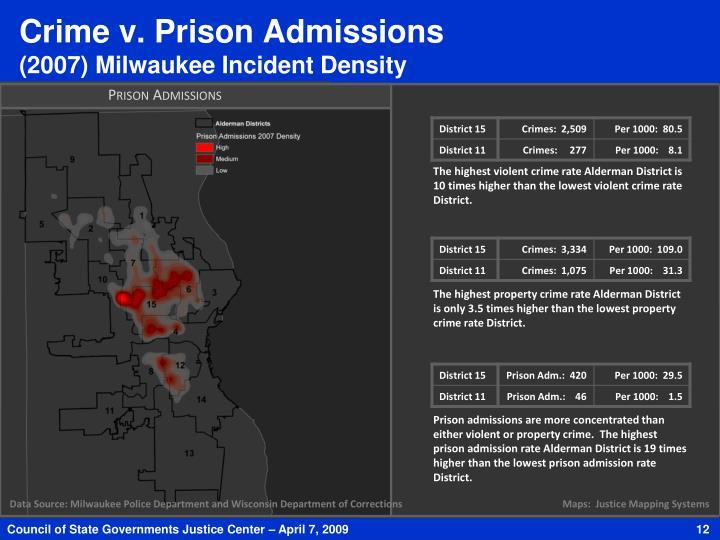 Crime v. Prison Admissions