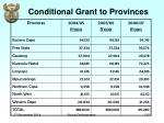 conditional grant to provinces1