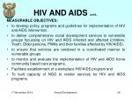 hiv and aids cont