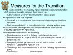 measures for the transition