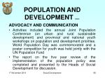 population and development cont4