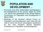 population and development cont5