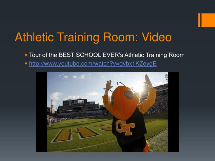 Athletic Training Room: Video