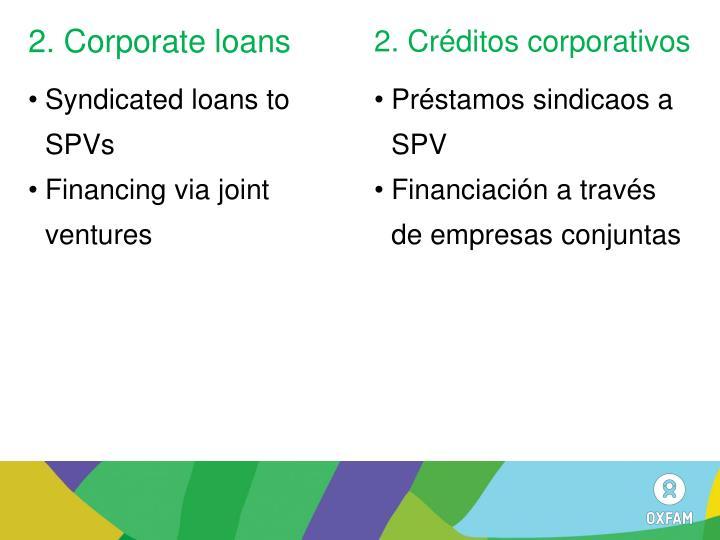2. Corporate loans