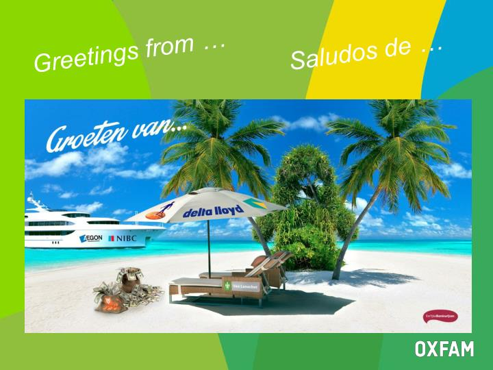 Greetings from …