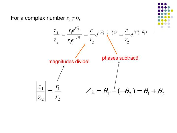 For a complex number