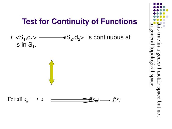 Test for Continuity of Functions