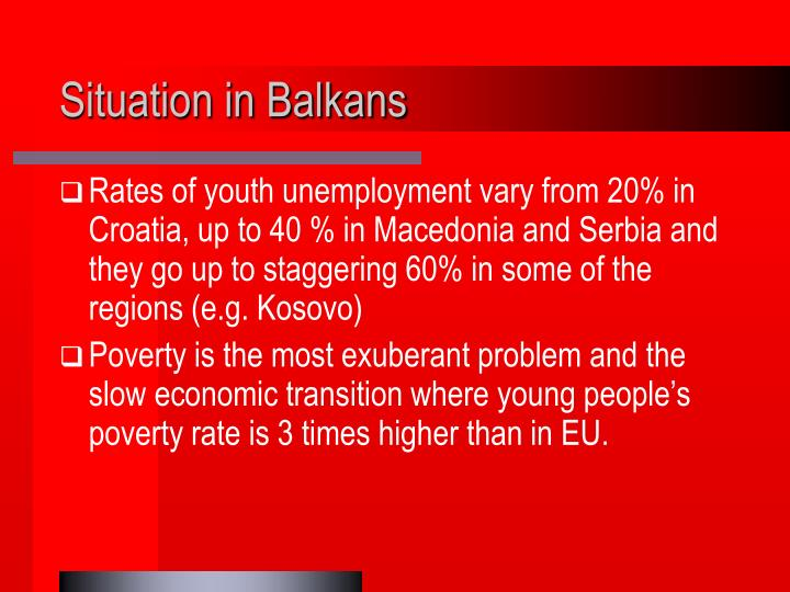 Situation in balkans