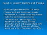 result 3 capacity building and training