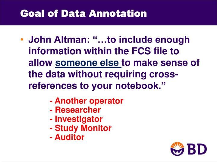 Goal of Data Annotation