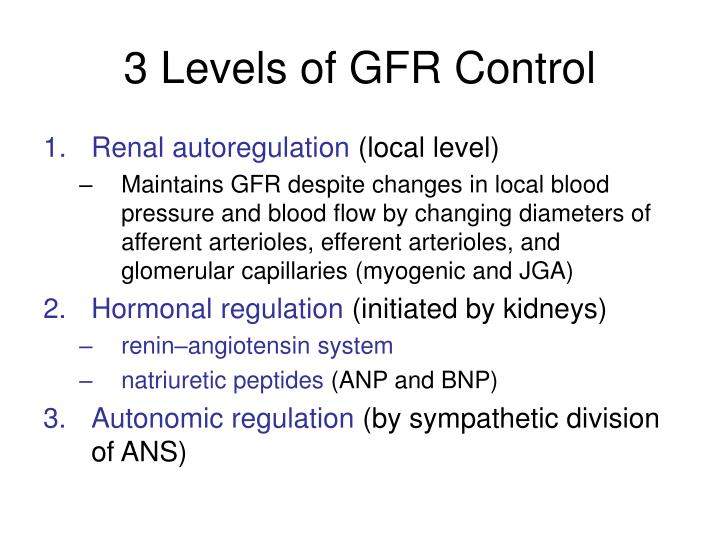 3 Levels of GFR Control