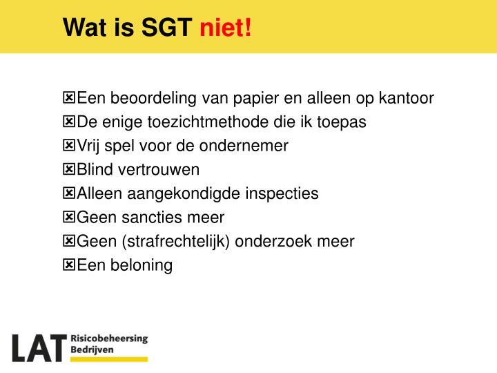 Wat is SGT