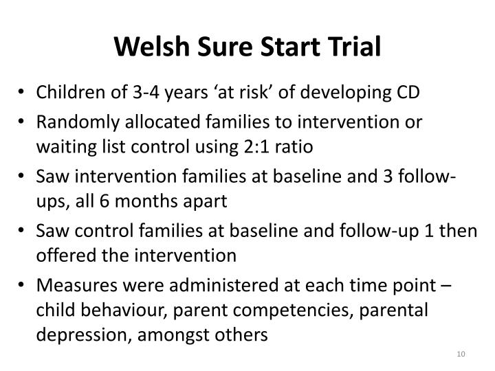 Welsh Sure Start Trial