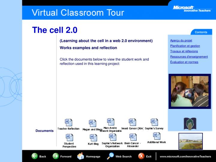 (Learning about the cell in a web 2.0 environment)
