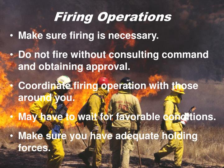 Firing Operations