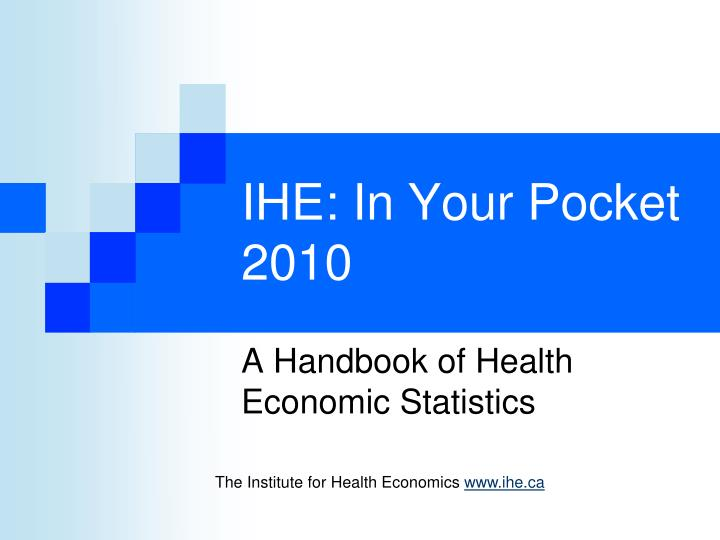 ihe in your pocket 2010 n.