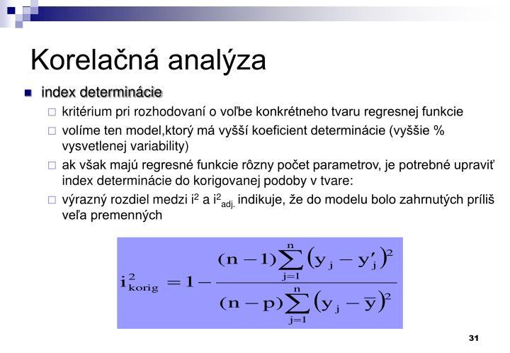 Korelačná analýza