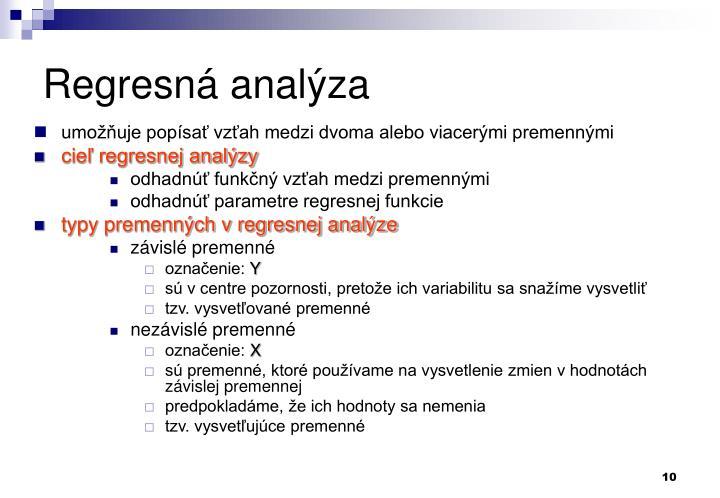 Regresná analýza