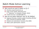 batch mode active learning