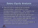 salary equity analysis