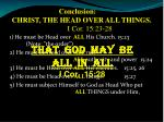 conclusion christ the head over all things i cor 15 23 28