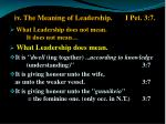 iv the meaning of leadership i pet 3 7