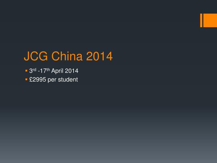 JCG China 2014